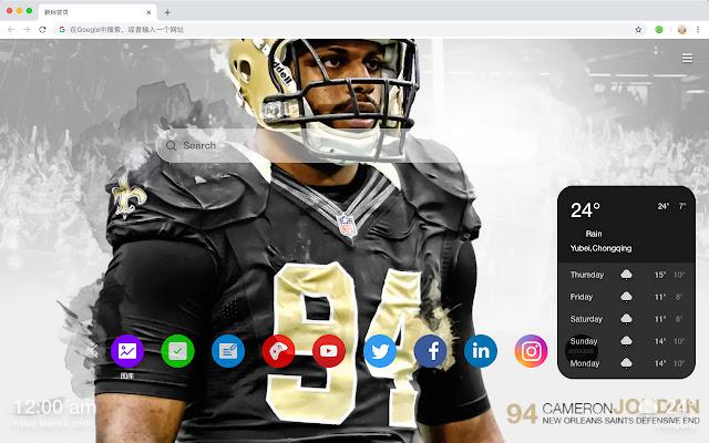 新奧爾良聖徒 高清壁紙 新標籤頁 流行NFL 主題