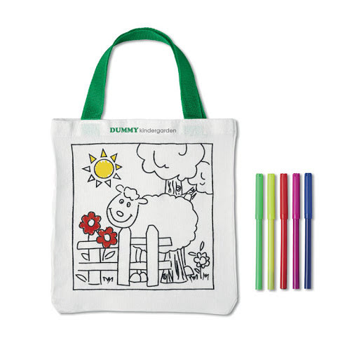 Kids Colour Me In Tote Bag