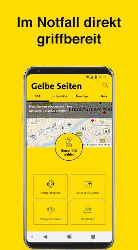 Gelbe Seiten Notfall-App  screenshots 1