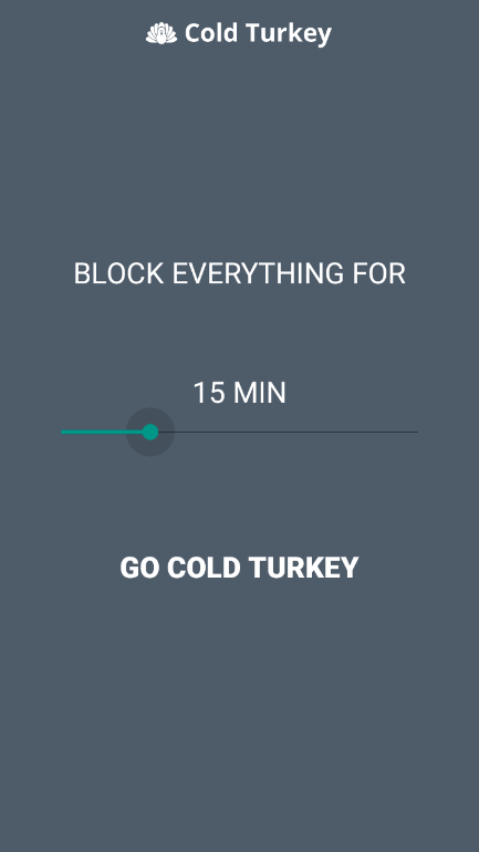 Cold Turkey- screenshot