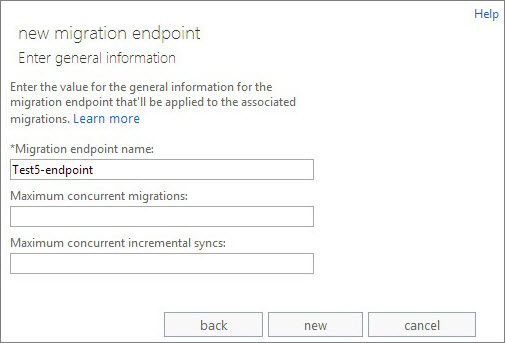 Migration endpoint name.