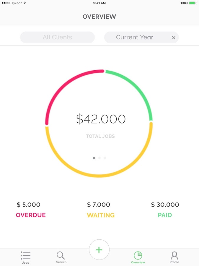 Tycoon Freelance job tracking- screenshot