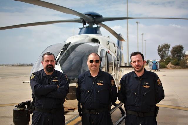 El inspector jefe Luis Gómez, el oficial Alberto Jurado y el policía Abel Molina.
