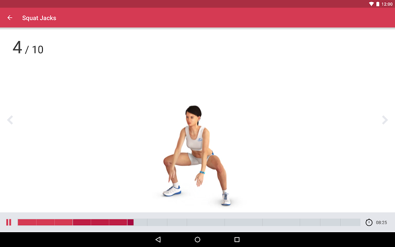 Runtastic Leg Trainer - Workouts & Exercises Screenshot 6