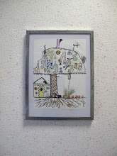 """Photo: """"Arbres et saisons"""", élèves du collège en art plastique"""