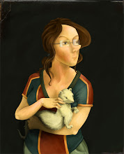 Photo: My webcomic character, Hypatia, as a lady with ermine