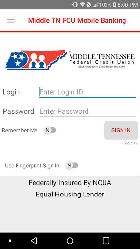 Middle TN FCU Mobile Banking ss1