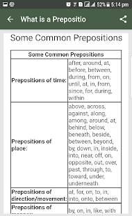 English Grammar- Preposition- screenshot thumbnail