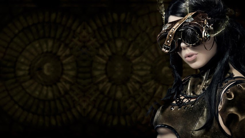android Steampunk.Cyberbabes.Wallpaper Screenshot 6