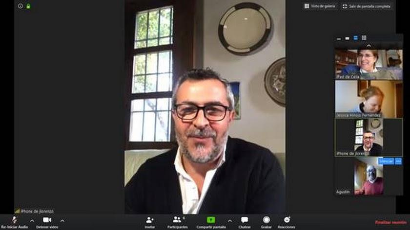 Imagen del pleno virtual del Ayuntamiento de Serón.