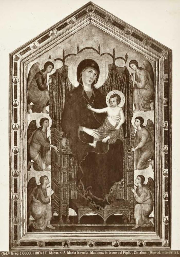 Brogi—Firenze. Chiesa di S. Maria Novella. Madonna in trono col Figlio; Cimabue.—insieme