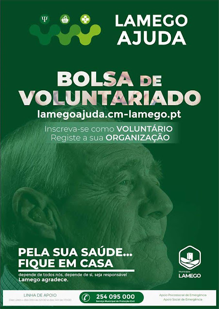 Município de Lamego cria Bolsa de Voluntariado face à atual pandemia