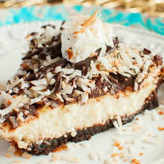 Toasted Coconut Fudge Cheesecake.