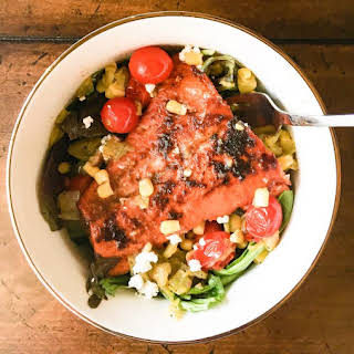 Chile-Lime Salmon Bowls with Mexican Succotash.