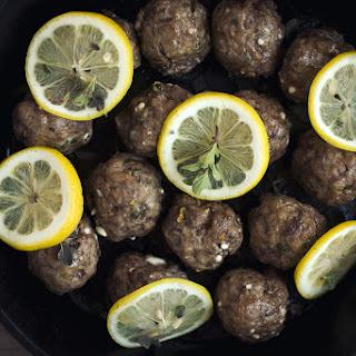 Greek Lamb Meatballs.