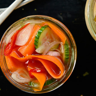 Quick Pickled Cucumbers, Carrots, and Shallots