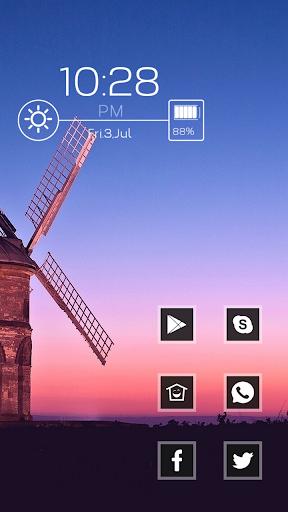 Beautiful blue sky windmill th
