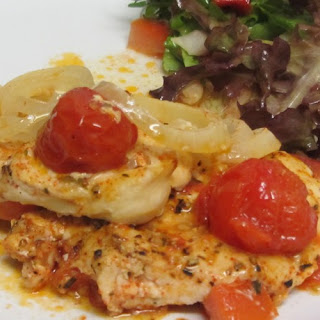 Chicken Breast With Tomatoes Straight From The Oven
