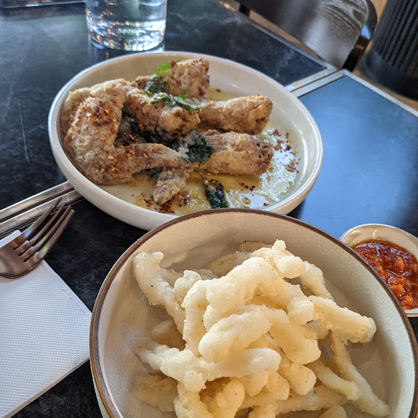 fried chicken qings and calamari