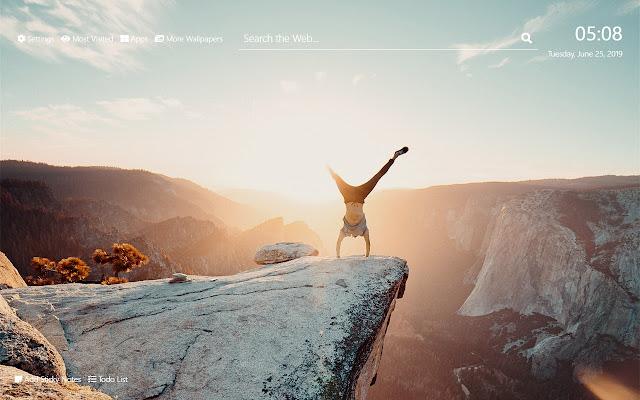 cliff Wallpaper HD New Tab Theme