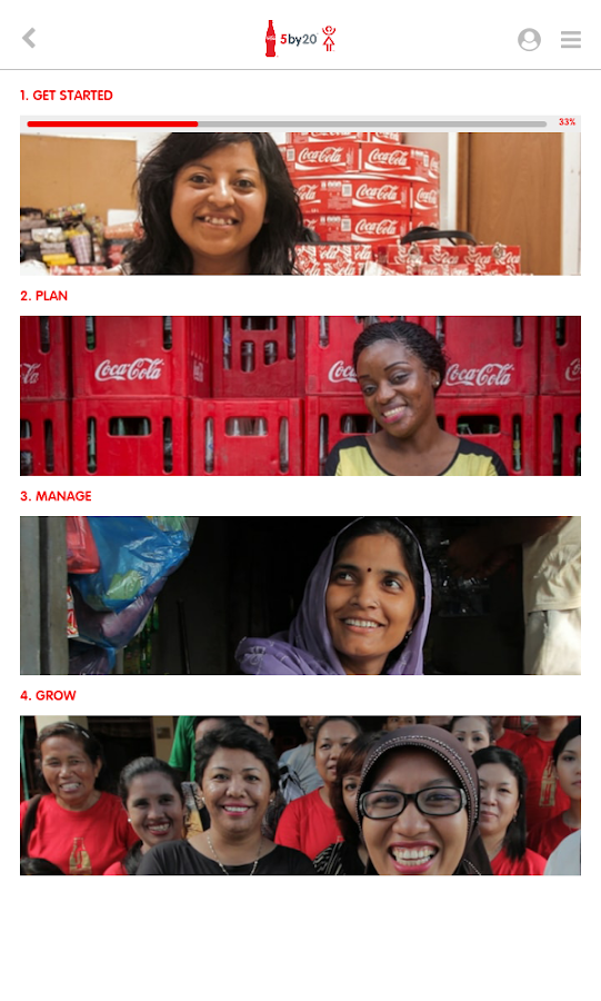 Coca-Cola 5by20 eLearning- screenshot