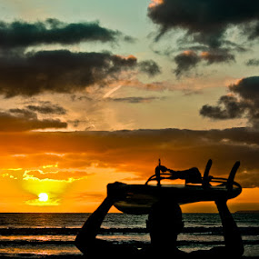 Snod by Steve Weston - Sports & Fitness Surfing ( sunset, surf )
