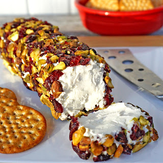 Goat Cheese with Pistachios & Cranberries