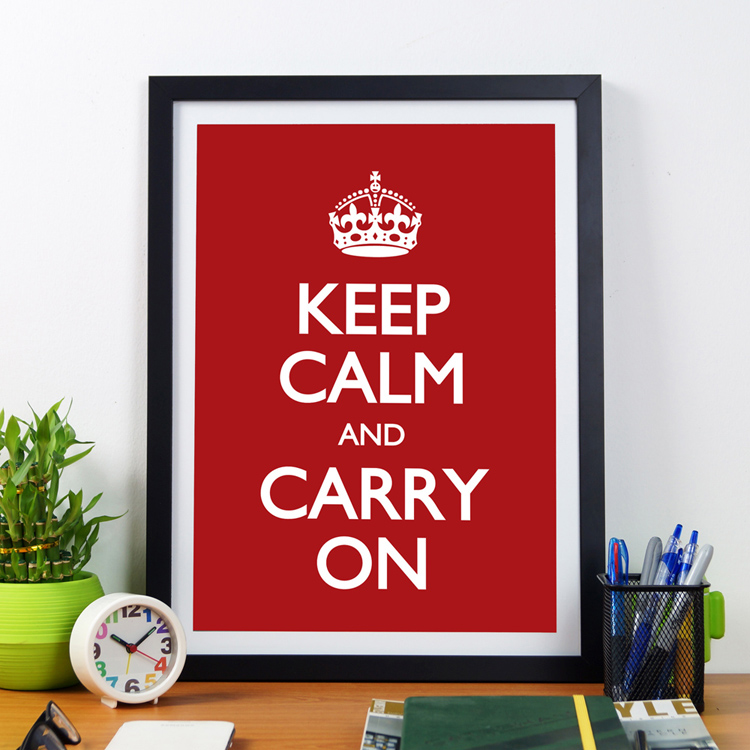 Keep Calm And Carry On | Framed Poster by Artwave Asia