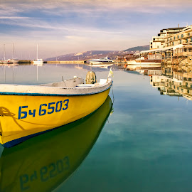 Balchik by Silviu Zlot - Transportation Boats