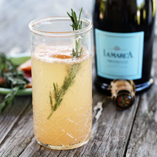 Ruby + Rosemary Prosecco Cocktail.