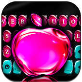 OS11 Glass Pink Apple Keyboard theme