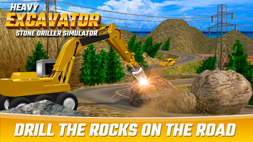 Heavy Excavator Stone Driller Simulator 1.0 screenshots 1
