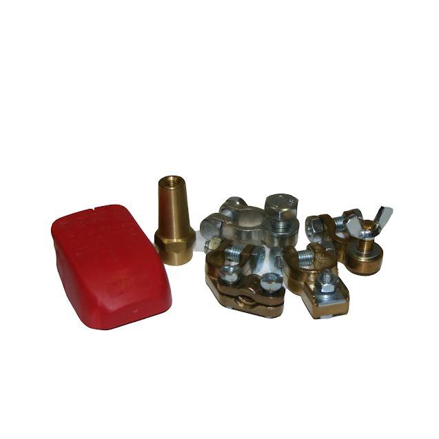 Batterikabelskor, poler och skydd