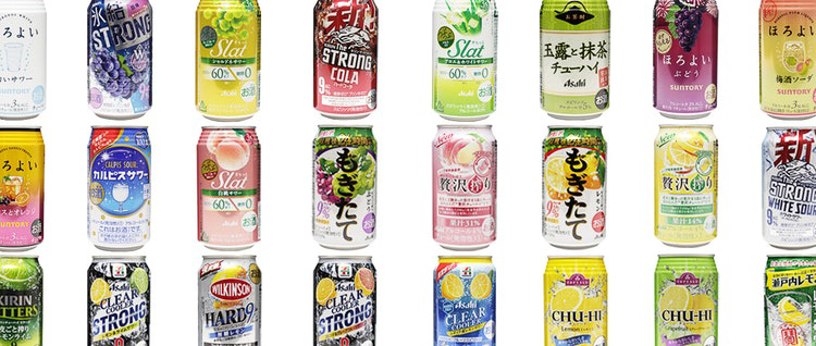 Chuhai alochol you can find in convenience stores in Japan