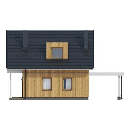 D157 - wersja drewniana - Elewacja tylna