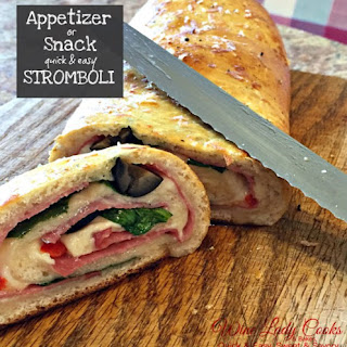 Air Fryer Stromboli Ham Cheese Spinach Appetizer.