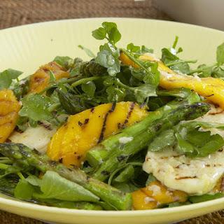 Grilled Halloumi, Asparagus and Mango Salad