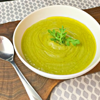 Arugula Parsnip Soup with Spring Onions
