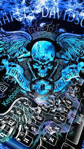 Blue Angry Skull Keyboard 10001005 screenshots 1
