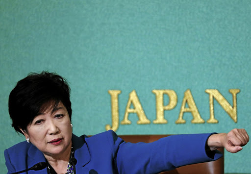 Tokyo governor Yuriko Koike, head of Japan's Party of Hope, attends a news conference at the Japan National Press Club in Tokyo on September 28 2017. Picture: REUTERS