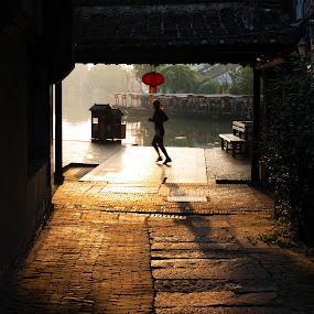 Xi Tang 1 by Xianwen Xu - City,  Street & Park  Street Scenes ( xi tang, vacation, old town, leica, morning )