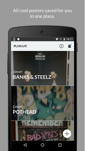 Plakaat - never miss events! screenshot