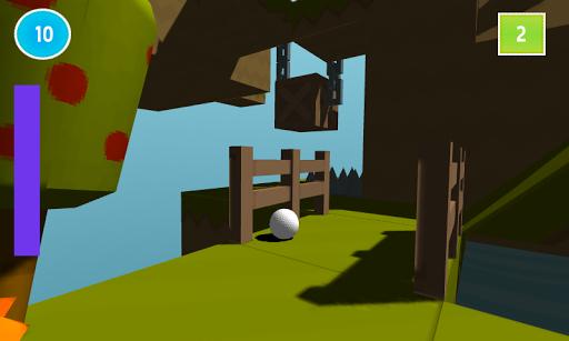 微型课程的迷你高尔夫游戏