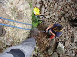Photo: vježbamo izradu sidrišta na 2 točke i osiguranja preko poluvrznog