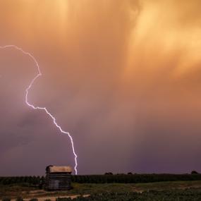 Pump house  by Richard Wright - Landscapes Weather ( storm delta rain light )