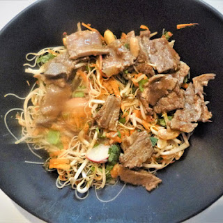 Tamarind Left Over Beef Noodle Salad with an Indonesian Dressing.