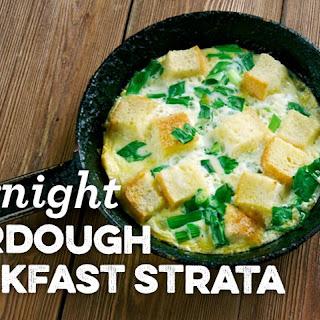 Overnight Sourdough Breakfast Strata Recipe