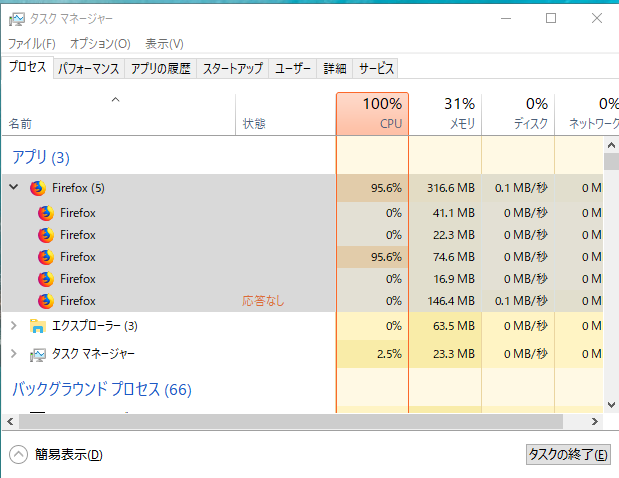 【アクセシビリティサービスによるブラウザへのアクセスを止める】チェックを外すと、相も変わらずリソースがFirefoxに持っていかれてしまう!