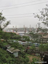 Photo: Ship and railyards in near the Vladivostok city center