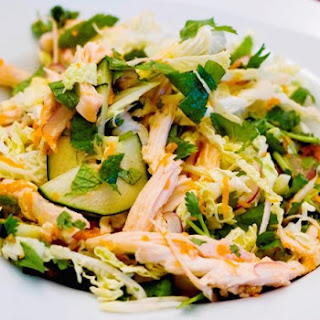 Vietnamese Cabbage and Chicken Salad (ga xe phay).